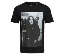 Print T-Shirt grau / schwarz