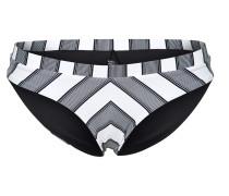 Bikinihose 'mirage Lineup' grau / weiß