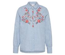 Bluse 'Izette' blau / rot / weiß