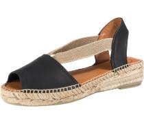 Sandalen beige / schwarz