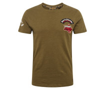 T-Shirt 'motor Patch Tee' oliv
