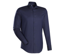 City-Hemd ' Custom Fit ' dunkelblau