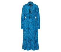 Kleid 'onlMUNI L/s' himmelblau / schwarz