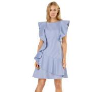 Kleid 'nemera' hellblau / weiß