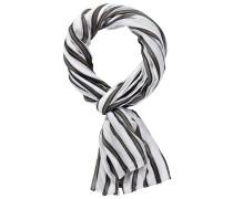 Schal mit Streifen braun / schwarz / weiß