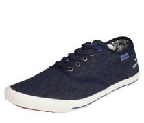 Sneaker aus Stoff navy