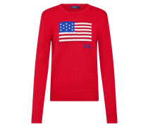 Pullover blau / rot / weiß