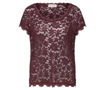 Shirt ' Spitze All Over' bordeaux