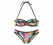 Balconette-Bikini mischfarben / schwarz