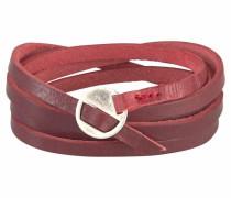 Armband weinrot / silber