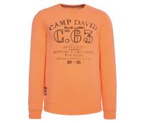 Sweater orangemeliert / schwarz