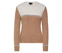 Pullover 'isalie' beige / dunkelbeige