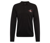 Shirt 'monogram' schwarz