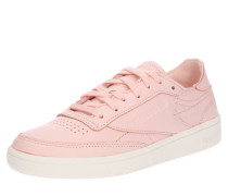 Sneaker Low 'club C 85' rosa / weiß