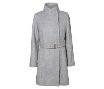 Mantel mit Gürtel grau