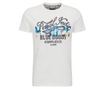 T-Shirt hellblau / grau / weiß
