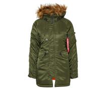 Winterjacke mit Kapuze dunkelgrün