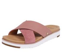 Pantolette 'Kari' hellbraun / rosa