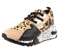 Sneaker hellbraun / schwarz / silber
