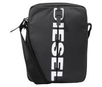 Tasche 'Boldmessage' grau / schwarz / weiß
