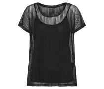 Shirt mit Untertop schwarz