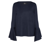 Pullover mit Trompetenärmel dunkelblau