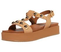 Sandale gold / hellbraun