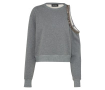 Sweatshirt 'Cold-Shoulder' grau