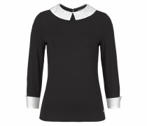 2-in-1-Shirt schwarz / weiß