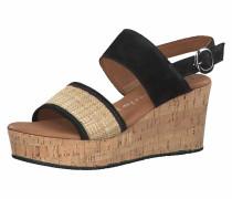 Sandalette schwarz / beige