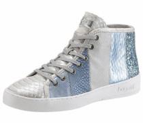 Sneaker rauchblau / silber