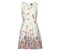 Kleid 'alba' hellblau / rot / weiß
