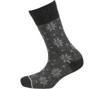 Socken graumeliert / schwarzmeliert