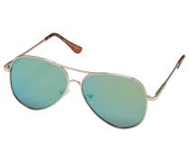 Sonnenbrille gold / pastellgrün