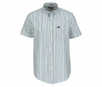 Kurzarmhemd blue denim / weiß