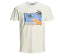 T-Shirt creme / blau / gelb