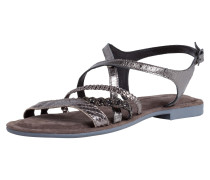 Sandale silbergrau