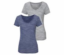 V-Shirts blau / grau