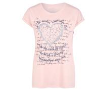 Shirt pastellpink / taubenblau