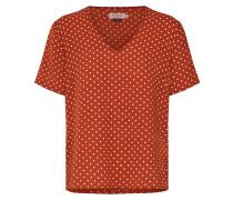Shirt rostbraun / weiß