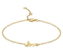 Fußschmuck 'Love-Schriftzug' gold