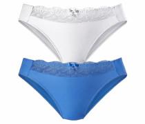 Slips (2 Stück) blau / weiß