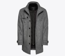 Mantel 'wool blend coat 2 in 1' grau