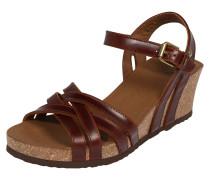 Sandale 'Vera Clay' dunkelbraun