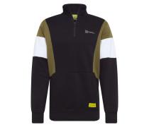 Sweatshirt oliv / schwarz / weiß