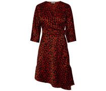 Kleid feuerrot / schwarz