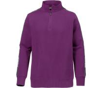 Sweatshirt dunkellila / schwarz / weiß