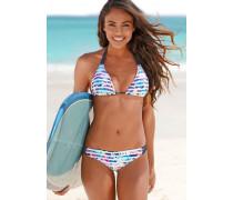 Triangel-Bikini blau / pink / weiß