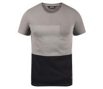 T-Shirt 'Mingo' grau / schwarz