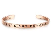Armband Bangle mit Cute BUT PSYCHO-Schriftzug